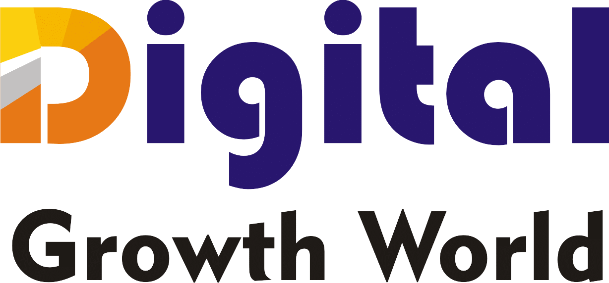 Digital Growth World Logo Blue